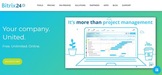 Bitrix24 project management platform